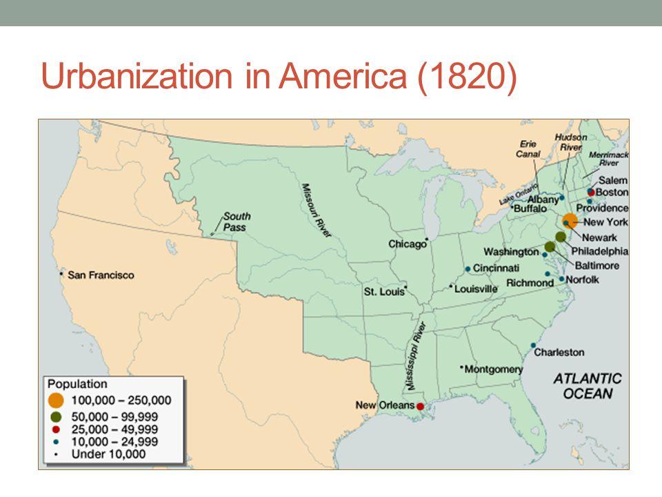 Urbanization in America (1820)