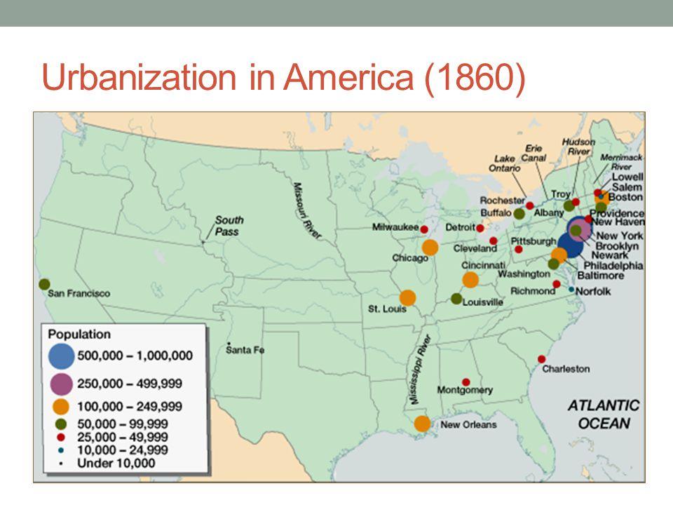 Urbanization in America (1860)