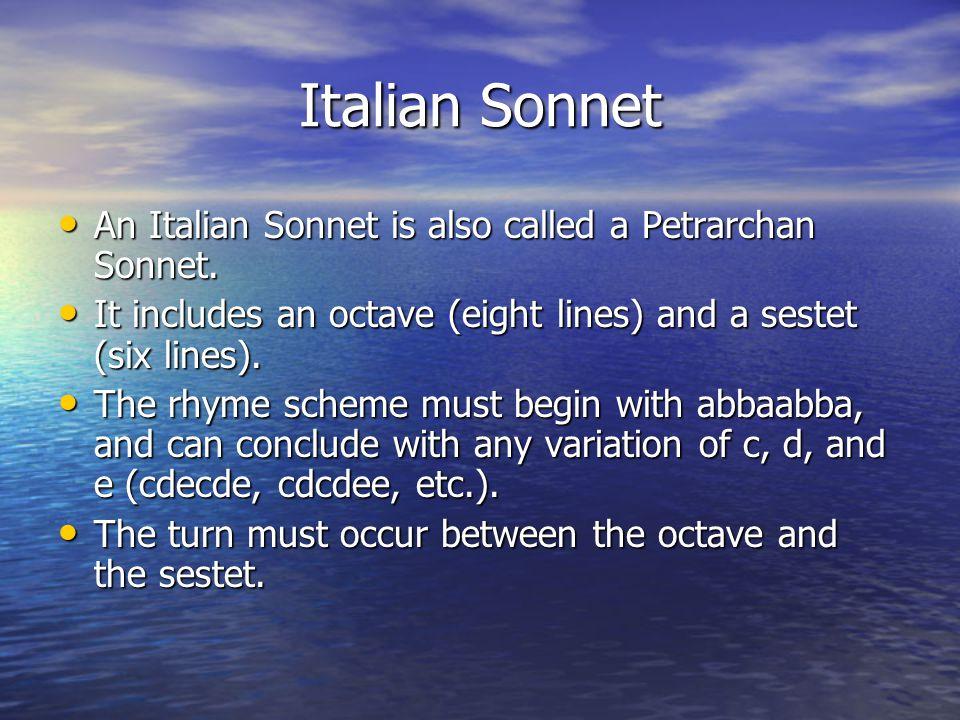 English Sonnet An English Sonnet is also called a Shakespearean Sonnet. An English Sonnet is also called a Shakespearean Sonnet. It includes three qua