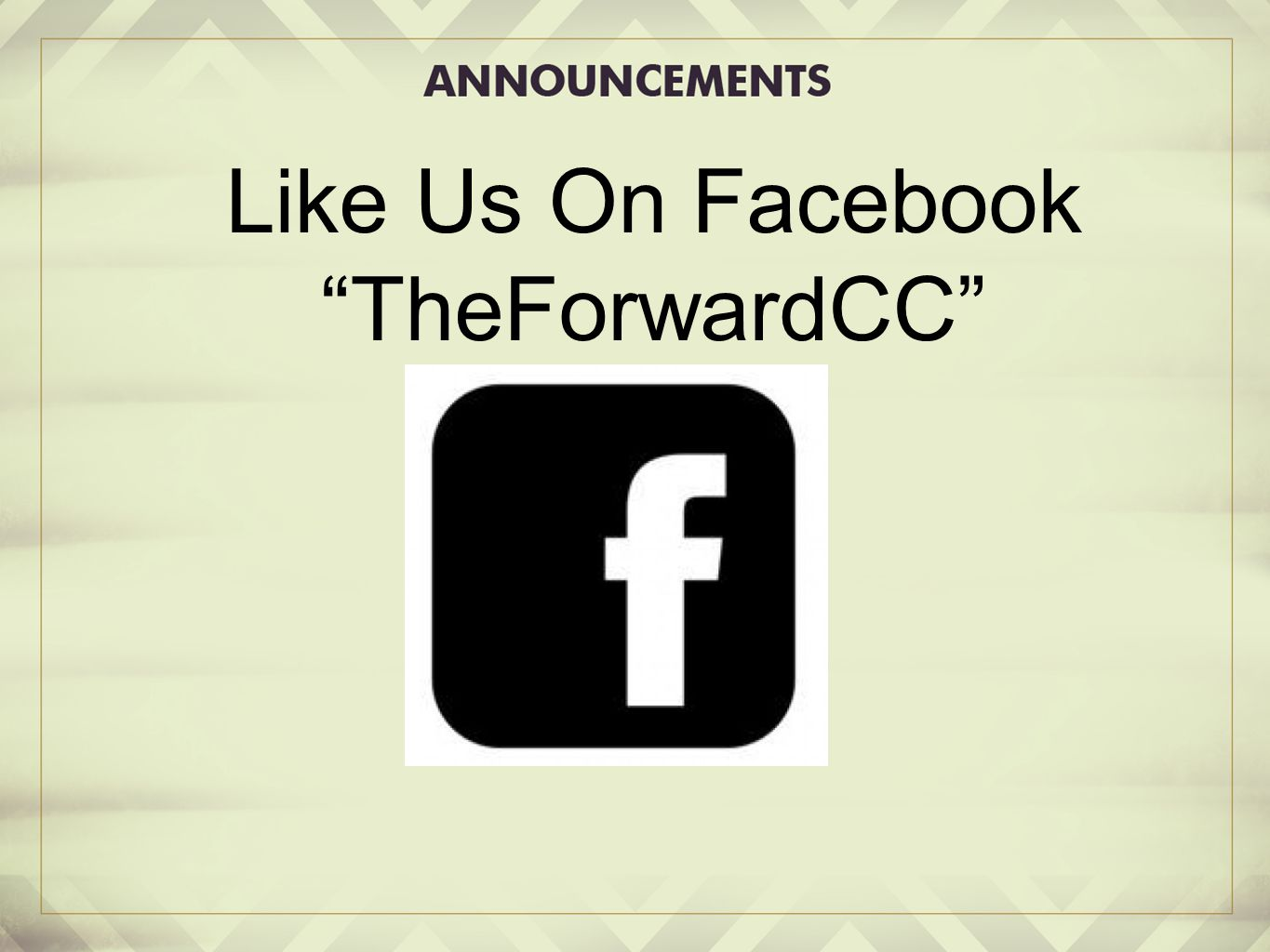 Like Us On Facebook TheForwardCC