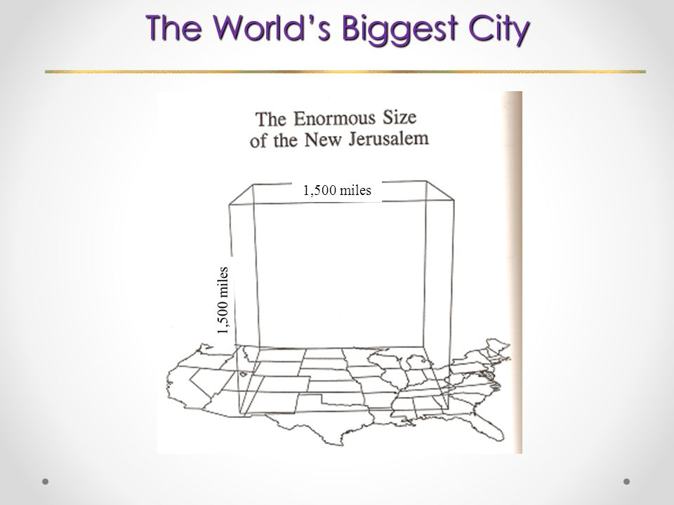 The World's Biggest City 1,500 miles