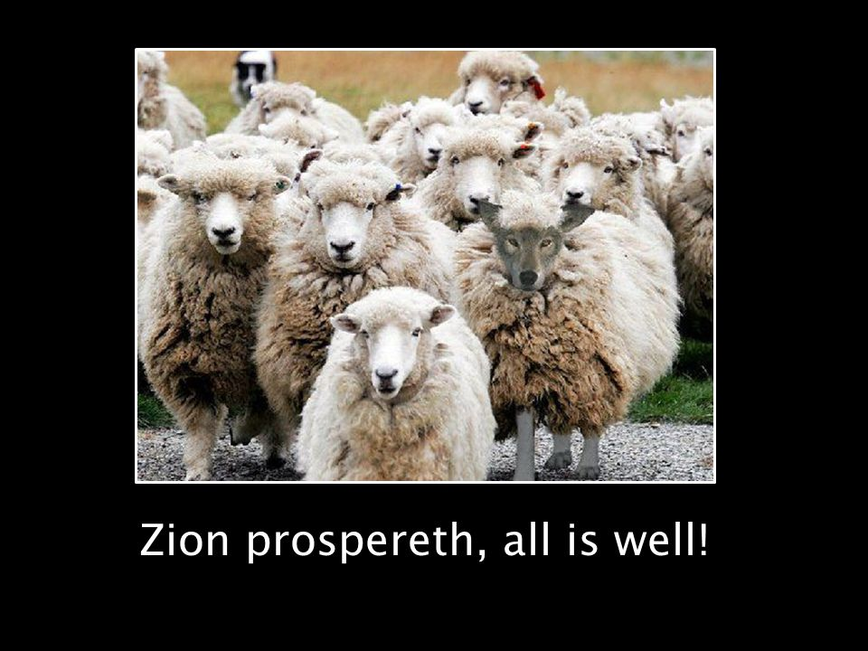 Zion prospereth, all is well!