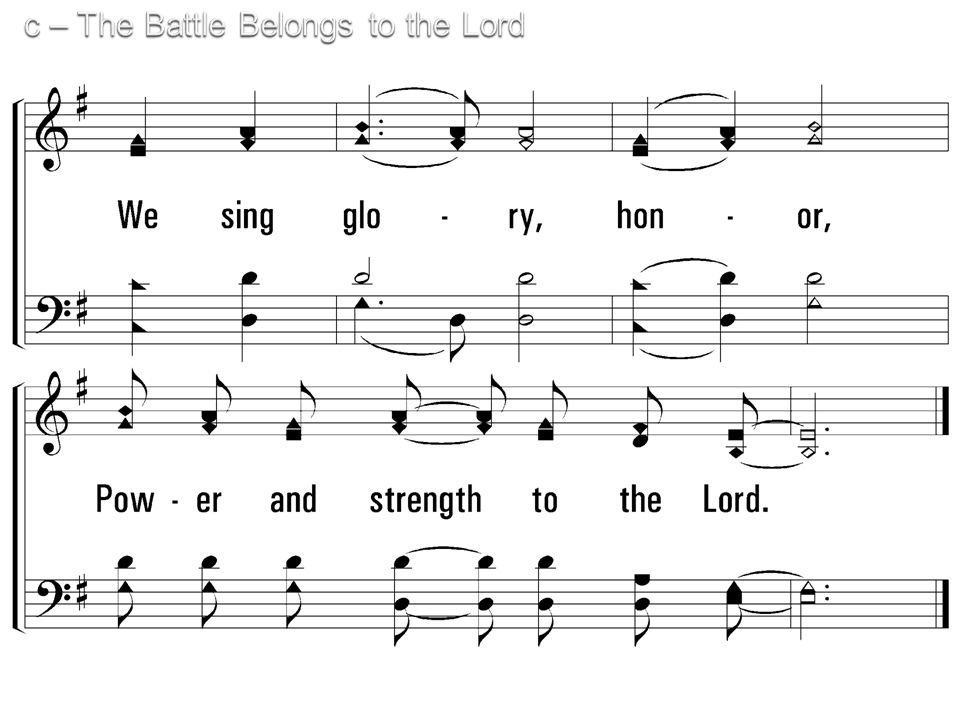 c – The Battle Belongs to the Lord © 2003 The Paperless Hymnal™