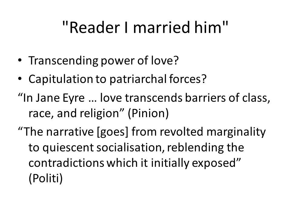 Reader I married him Transcending power of love.