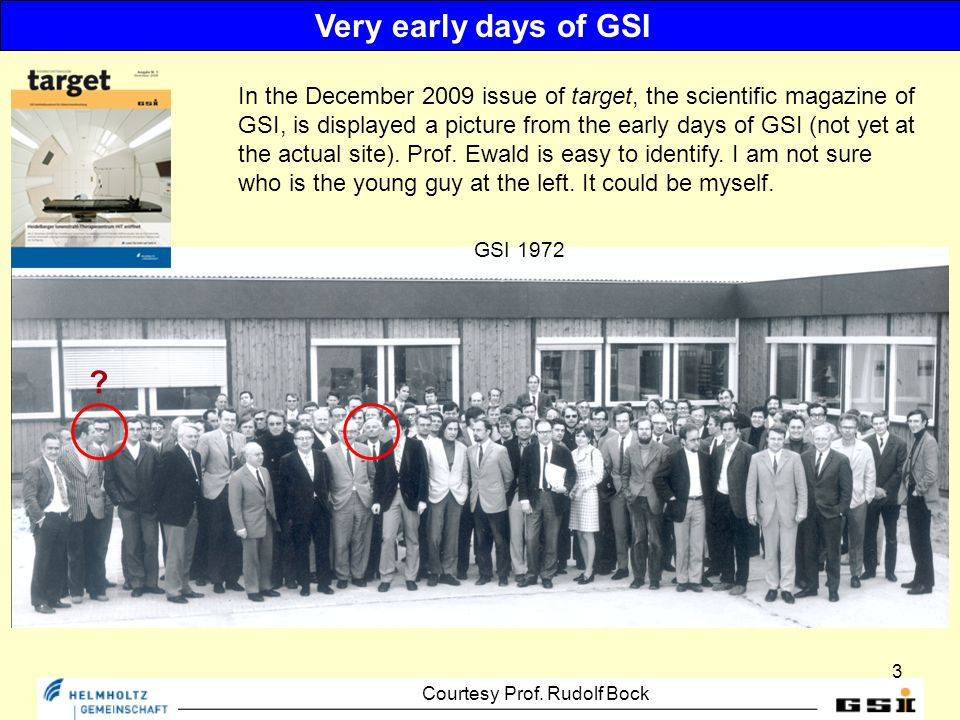 3 GSI 1972 Very early days of GSI .