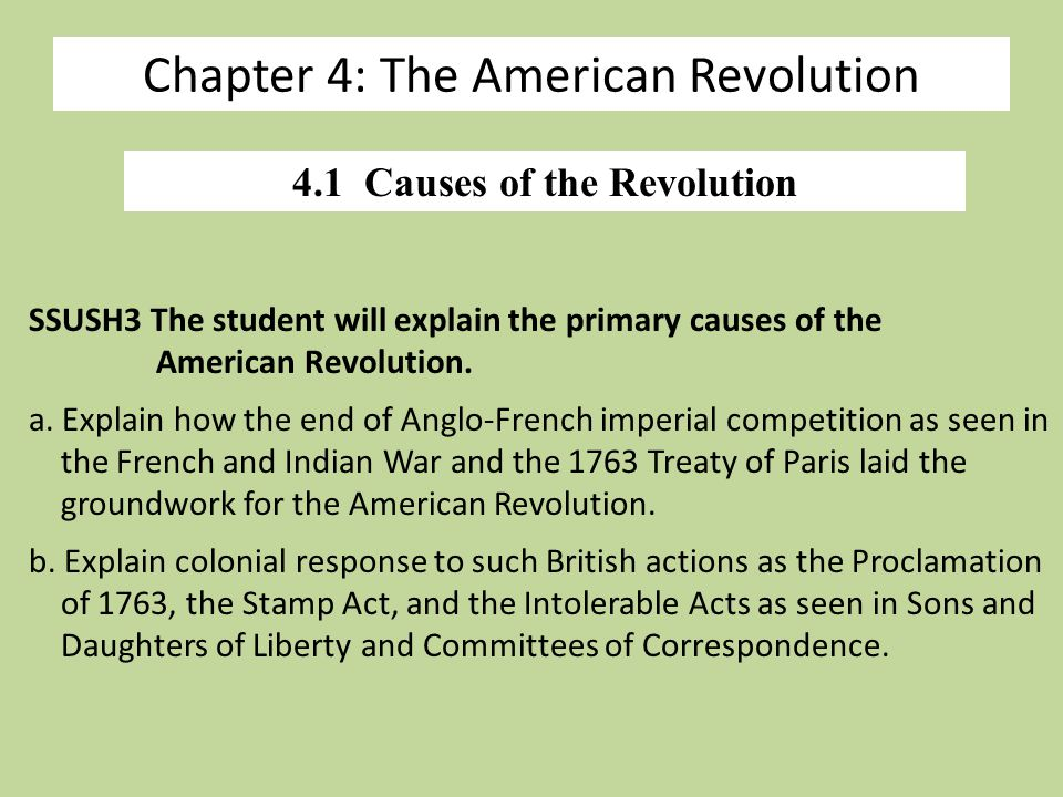 the american revolution 2 essay