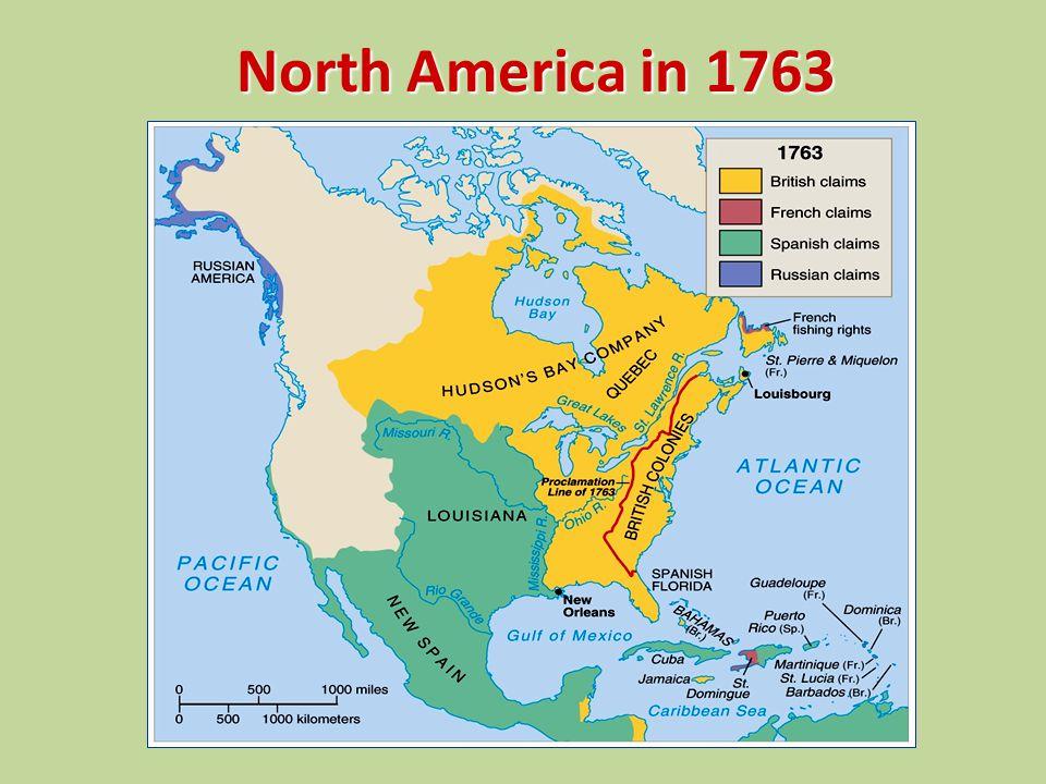 North America in 1763
