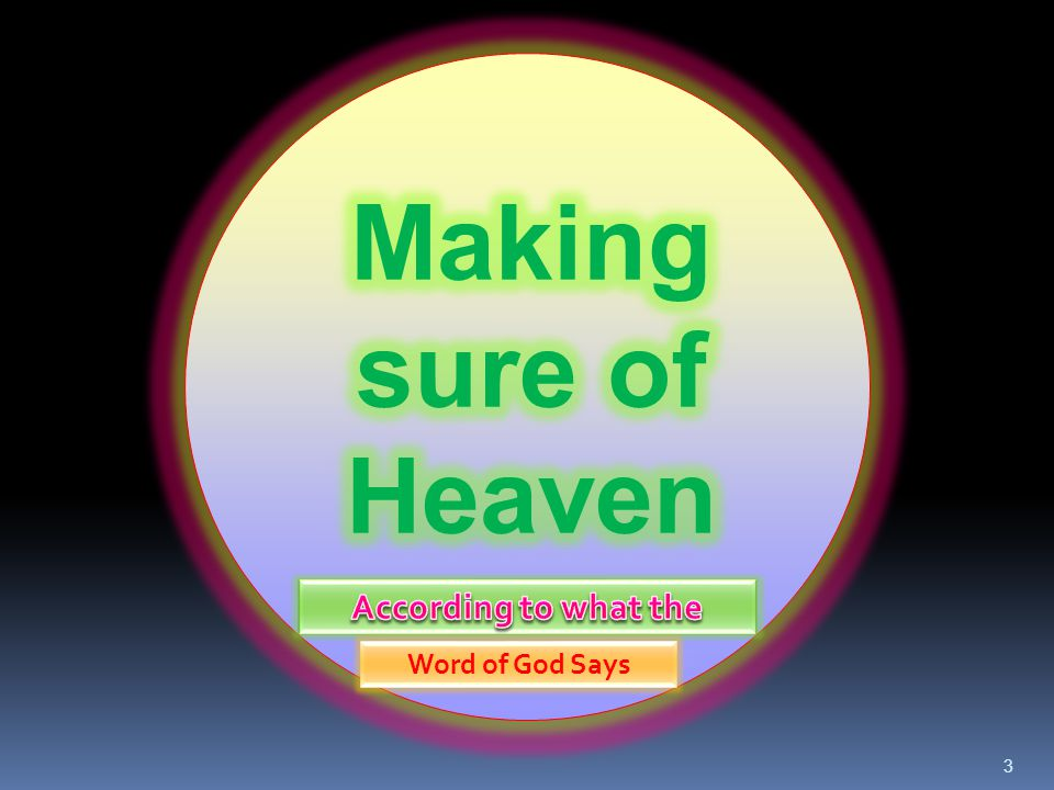 14 Q.# 1 was: Do you believe all have sinned against God and need to be saved.