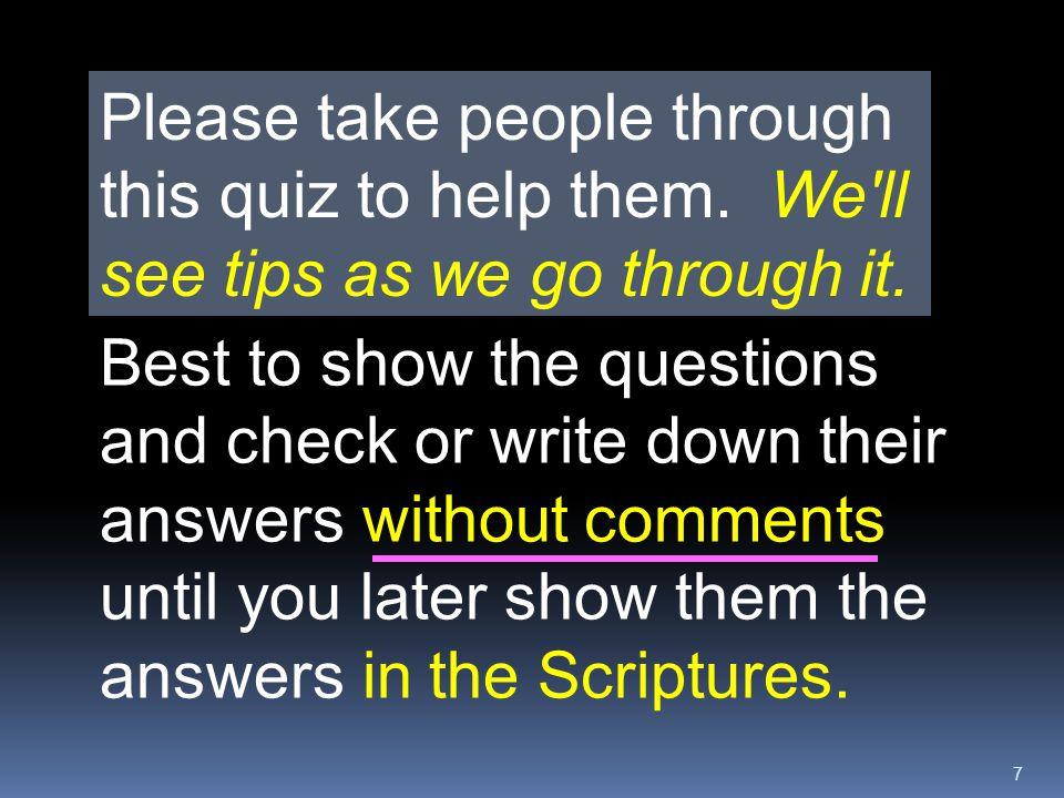 48 How NARROW is the Biblical way to Heaven.