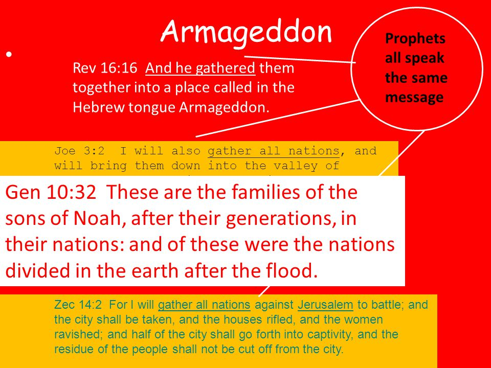 , after their generations, in their Rev 16:16 And he gathered them together into a place called in the Hebrew tongue Armageddon.