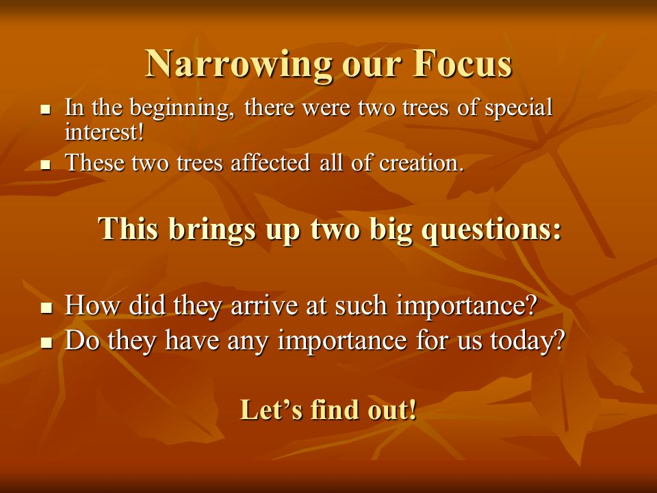 The tree of the knowledge of good and evil will now be a part of all of our lives.