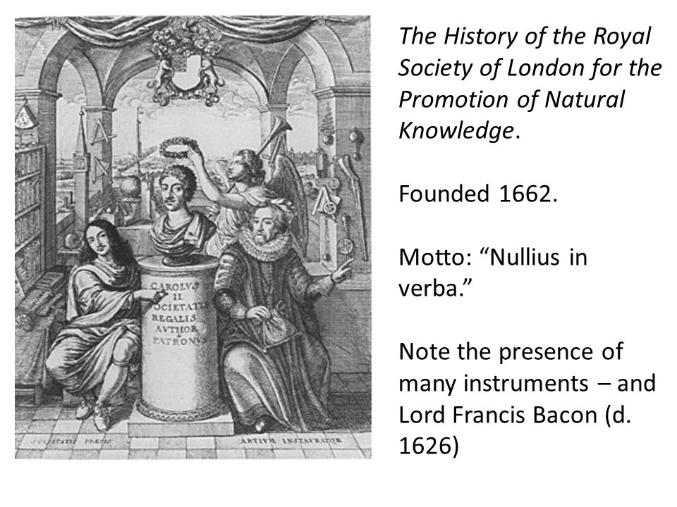 The History of the Royal Society of London for the Promotion of Natural Knowledge.
