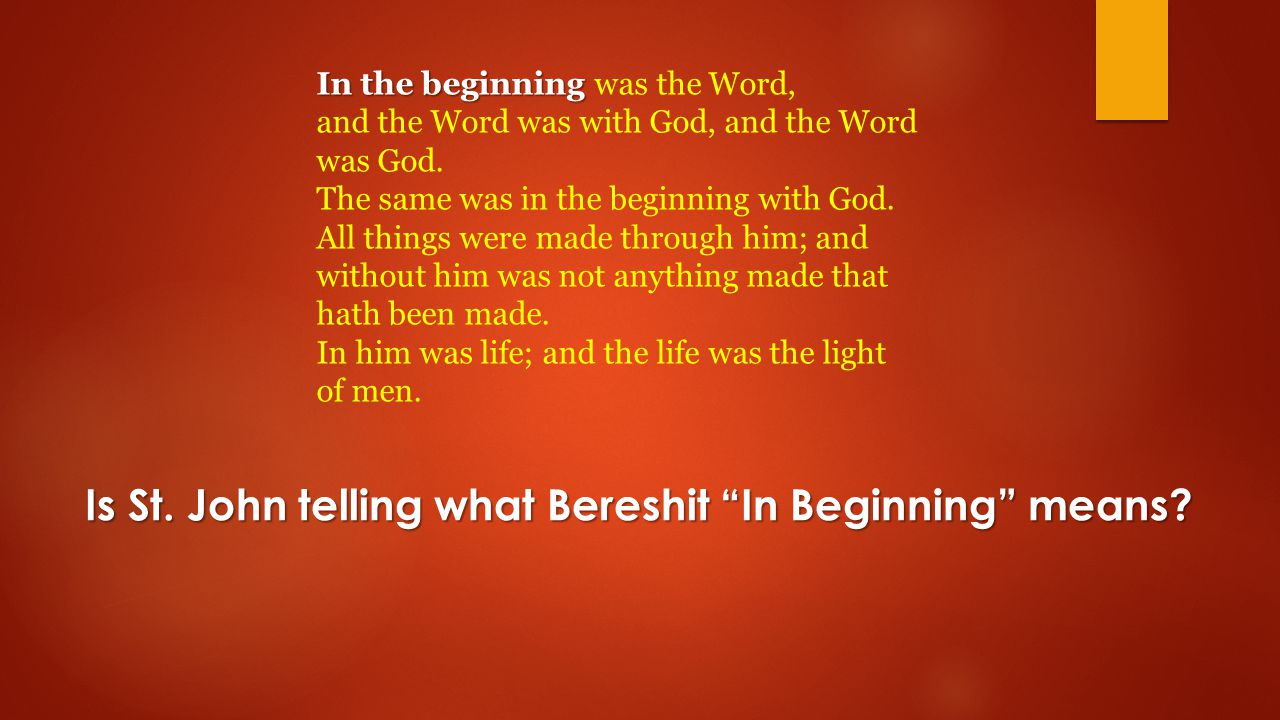 In the beginning In the beginning was the Word, and the Word was with God, and the Word was God.
