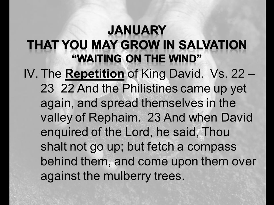 IV.The Repetition of King David. Vs.