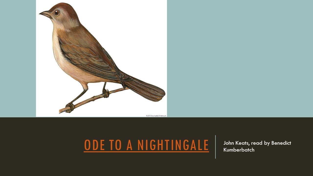 ODE TO A NIGHTINGALE John Keats, read by Benedict Kumberbatch