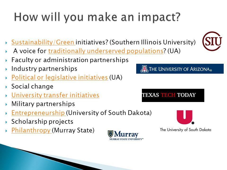  Sustainability/Green initiatives.