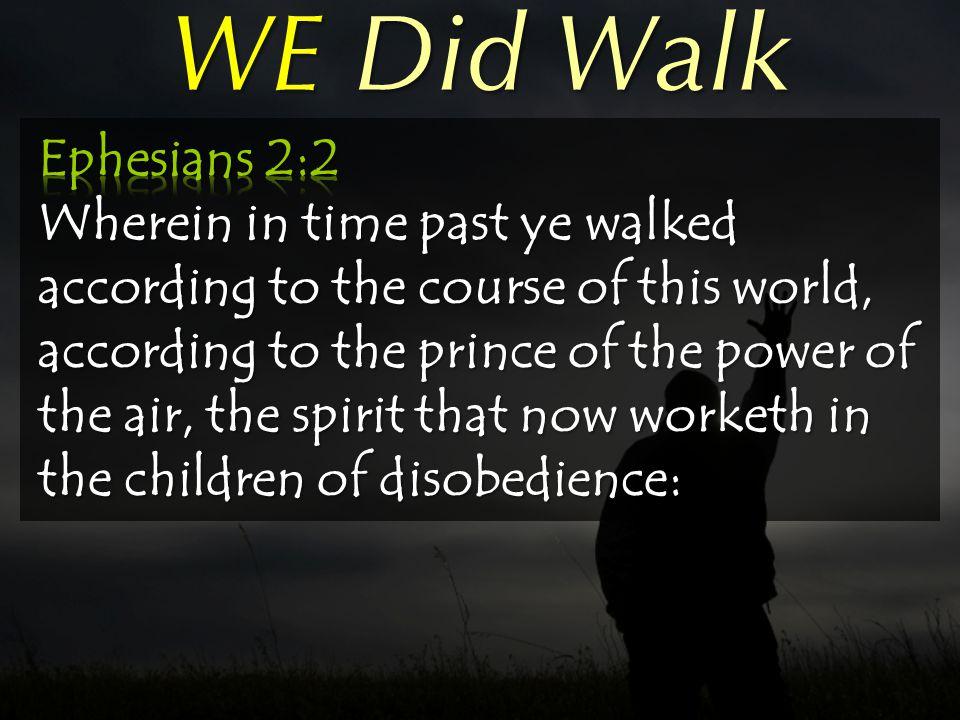 WE Did Walk