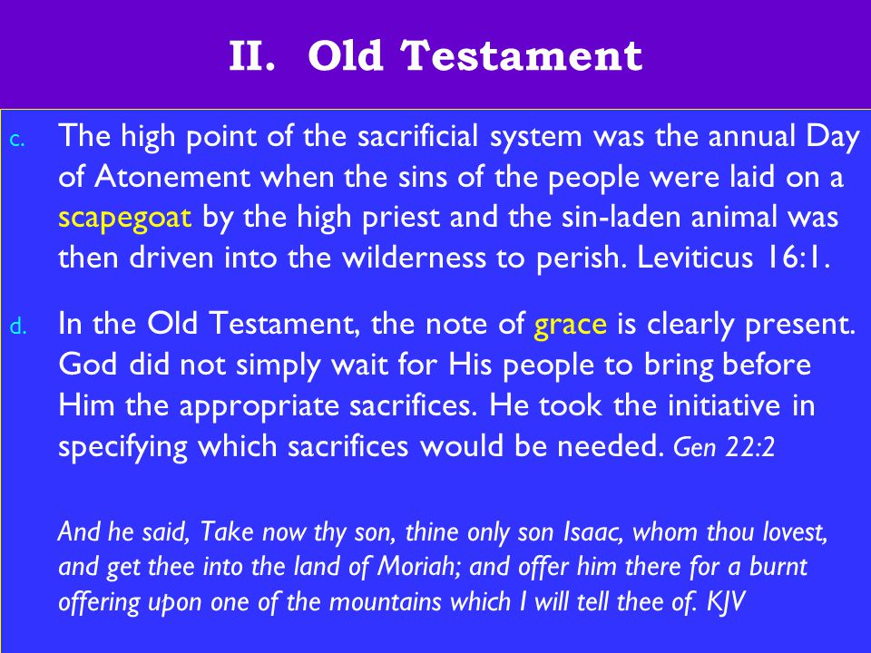 12 II. Old Testament c.