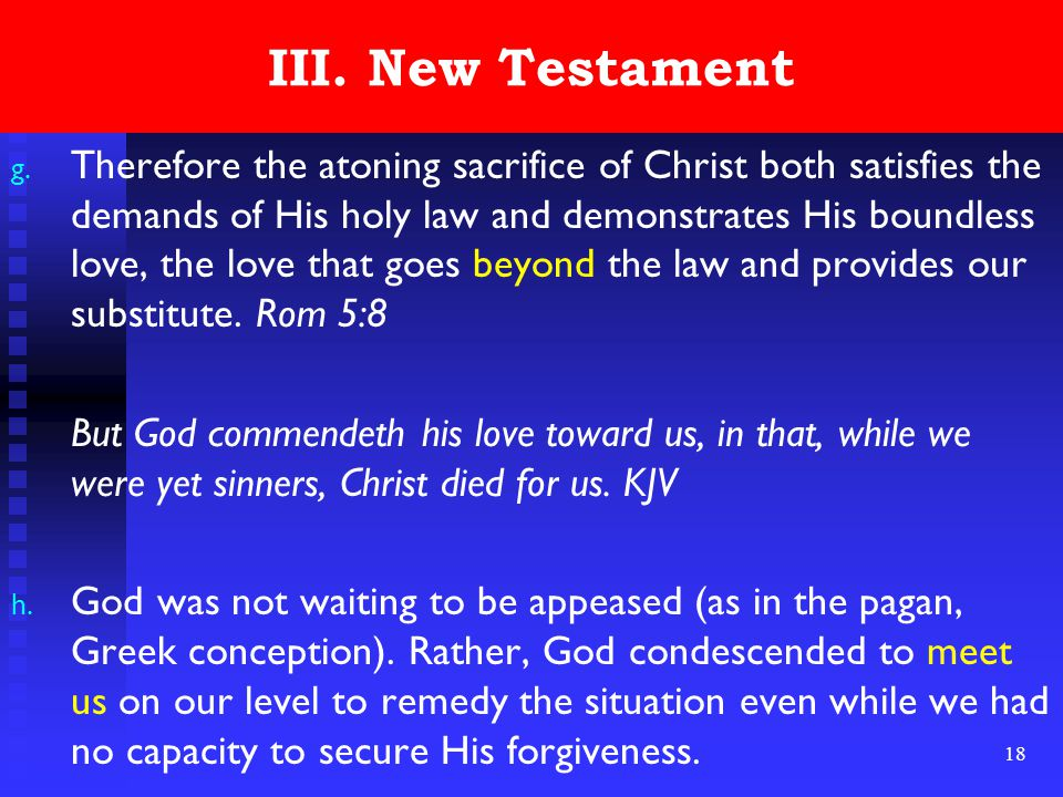 18 III. New Testament g.