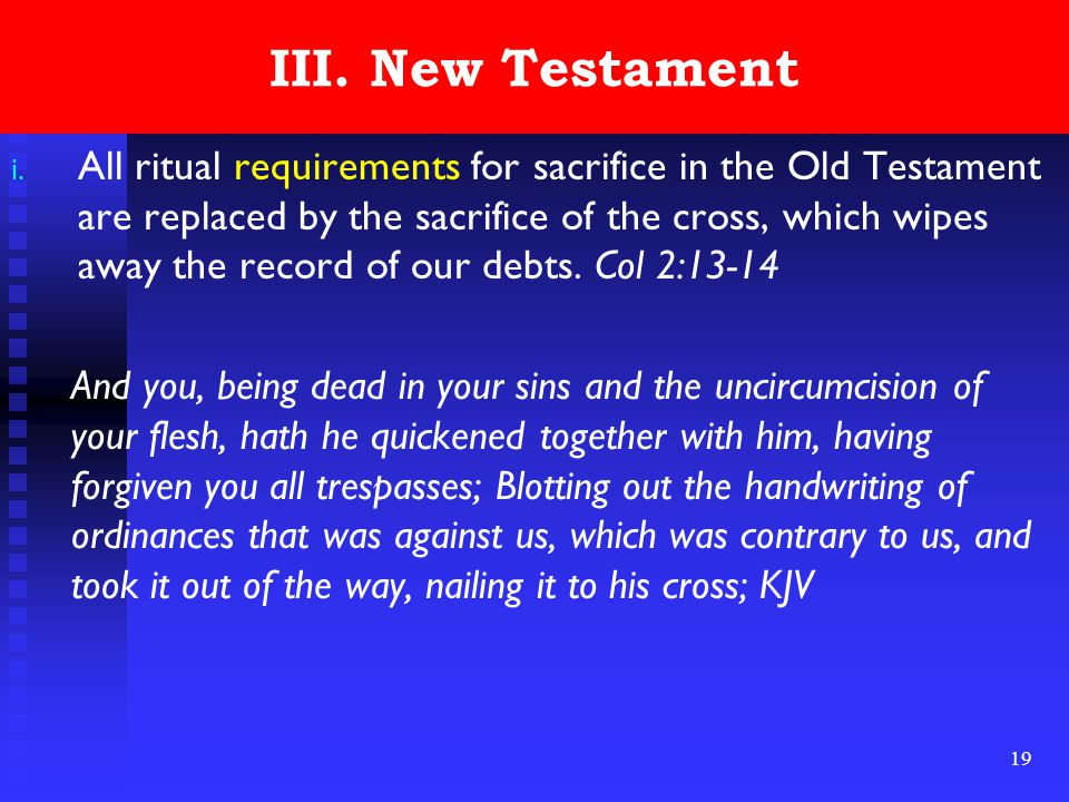 19 III. New Testament i.