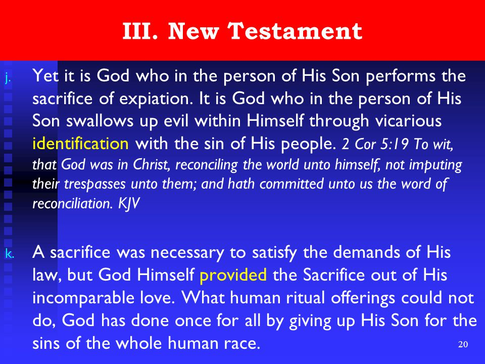 20 III. New Testament j.