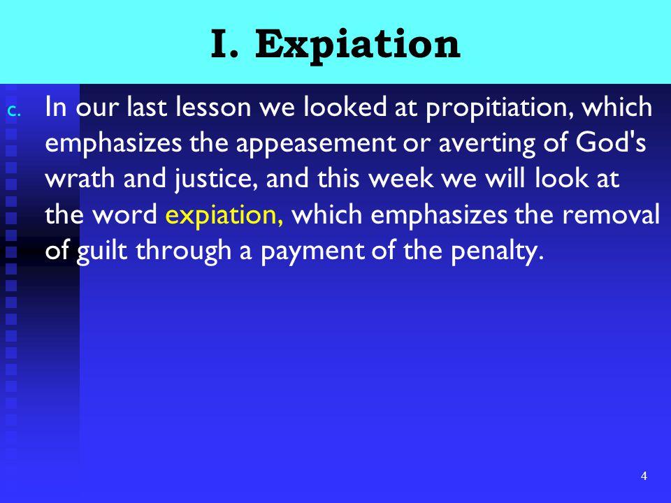 4 I. Expiation c.