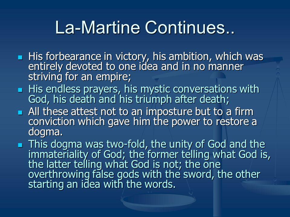 La-Martine Continues..