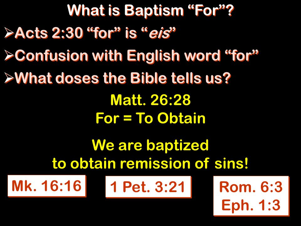 What is Baptism For .