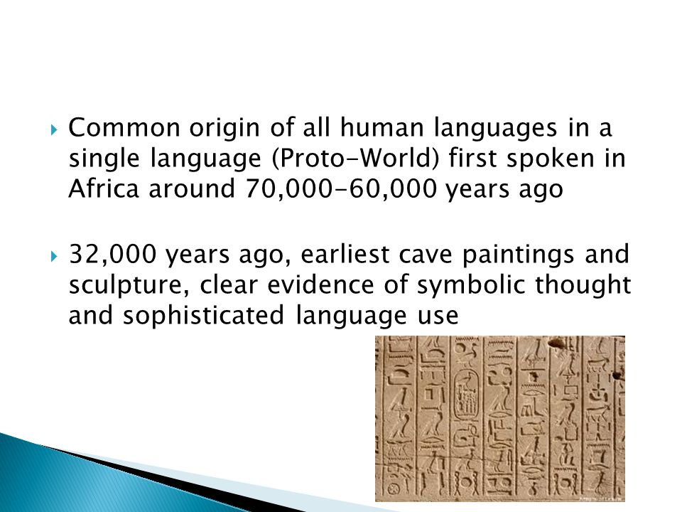  3,500 years ago (1,500 BC), earliest alphabetic writing emerges in the Middle East