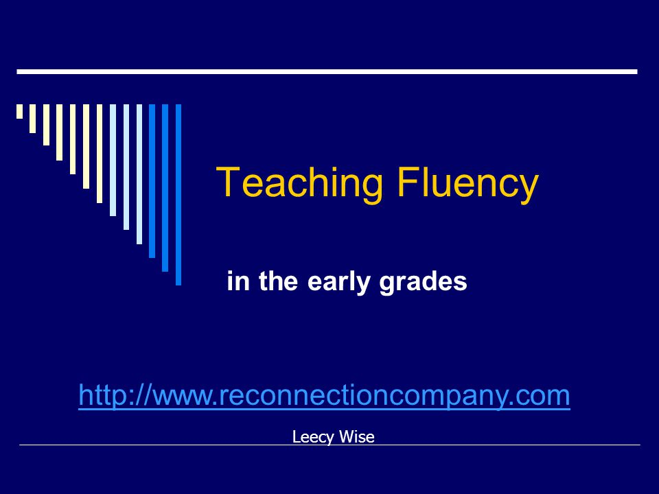 NRP  National Reading Panel (2000) did not endorse independent silent reading in the classroom as a way to build fluency.