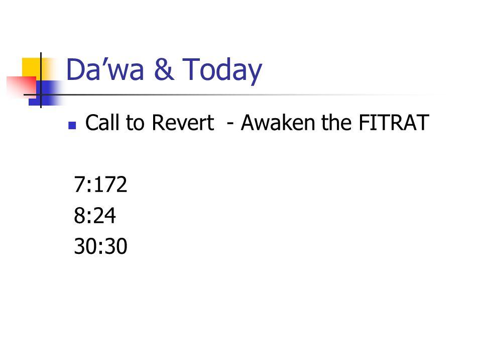 Da'wa & Today Call to Revert - Awaken the FITRAT 7:172 8:24 30:30