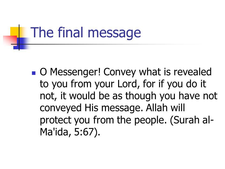 The final message O Messenger.
