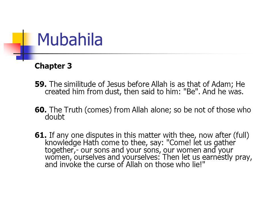 Mubahila Chapter 3 59.