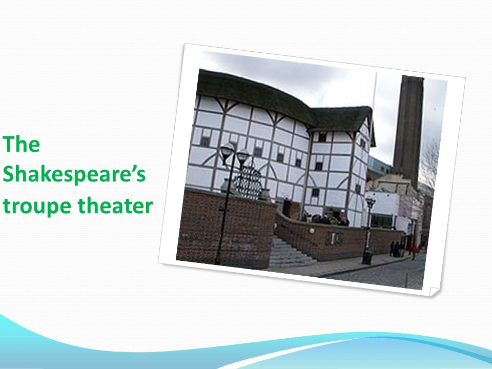 The Shakespeare's troupe theater