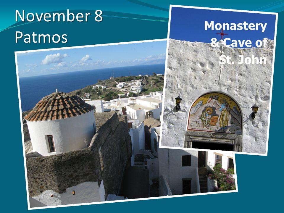 November 8 Patmos Monastery & Cave of St. John