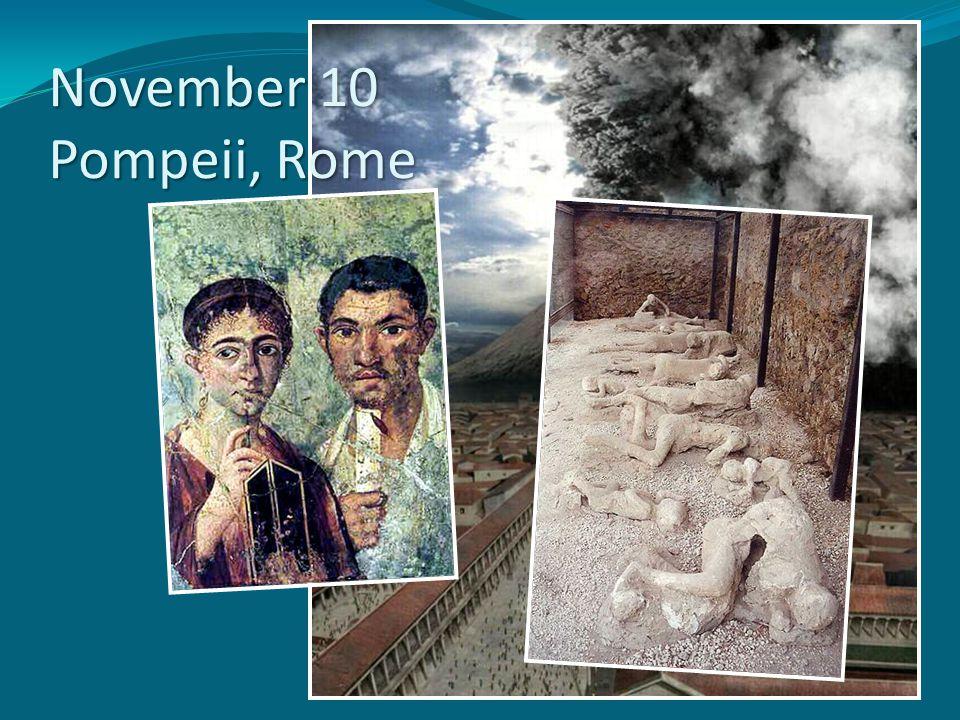November 10 Pompeii, Rome