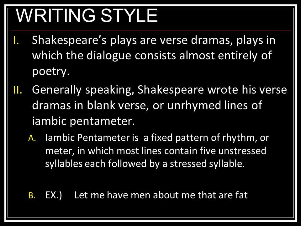 WRITING STYLE I.