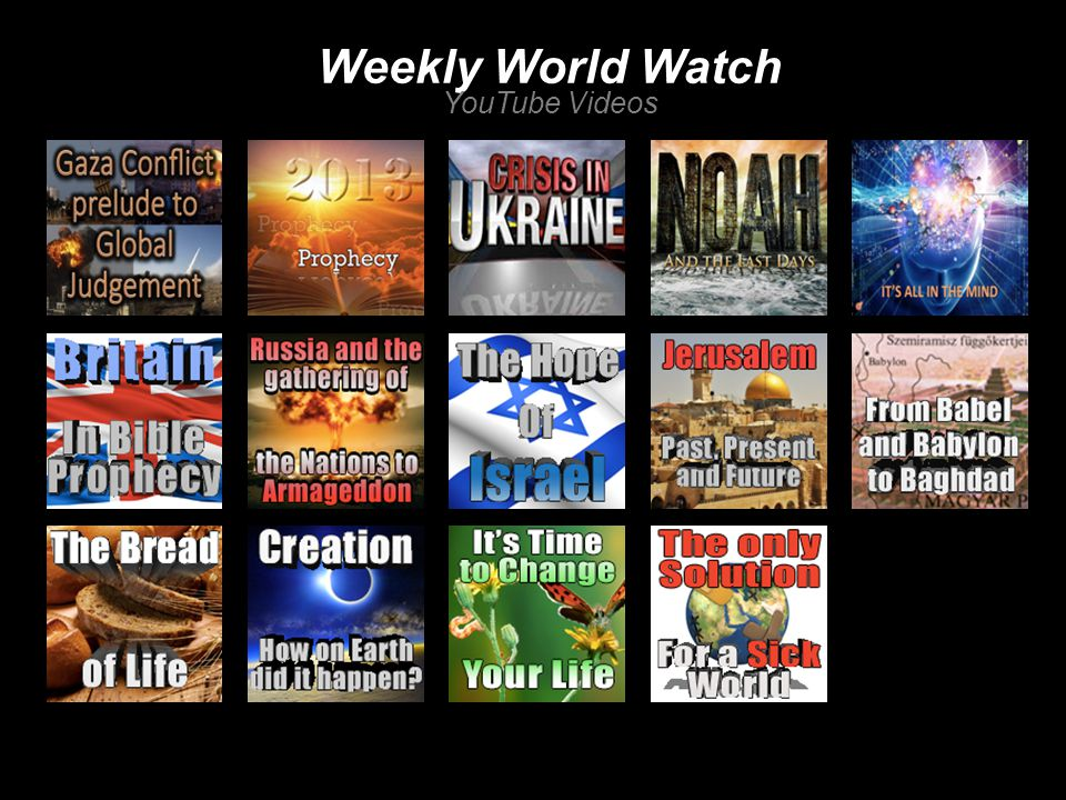 Weekly World Watch YouTube Videos