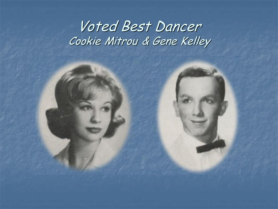 Voted Best Dancer Cookie Mitrou & Gene Kelley