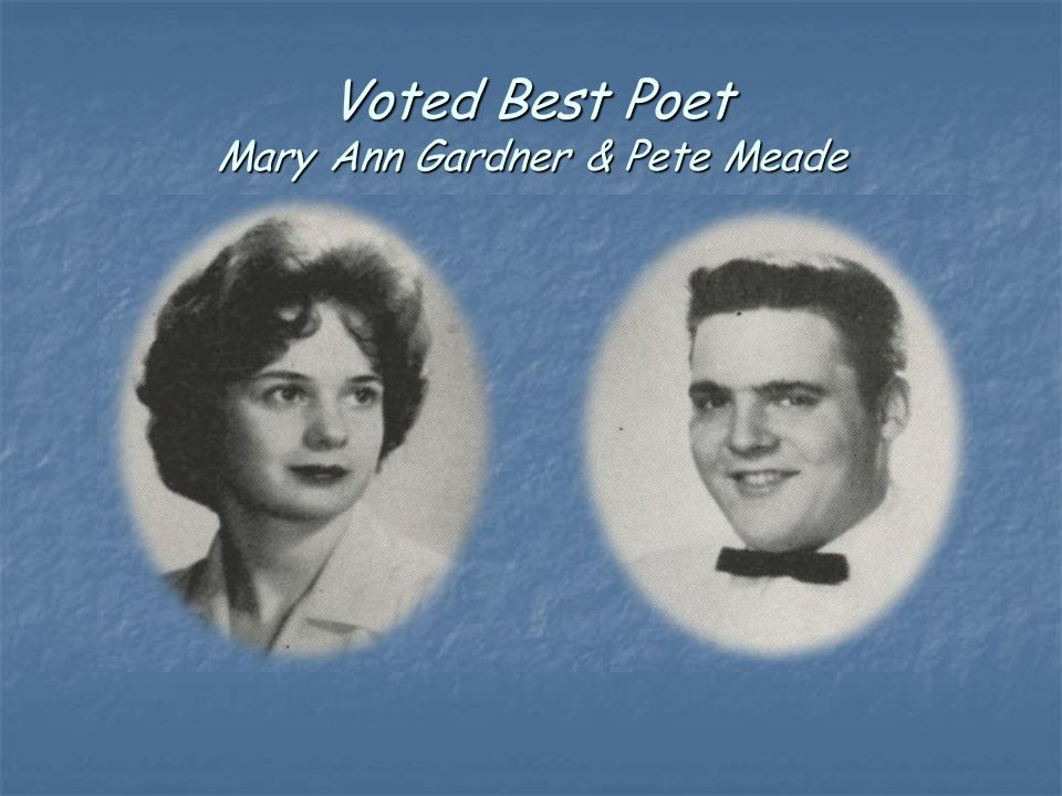 Voted Best Poet Mary Ann Gardner & Pete Meade