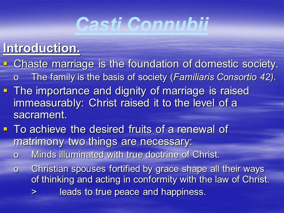 Casti Connubii  Initial Comments on Divorce.