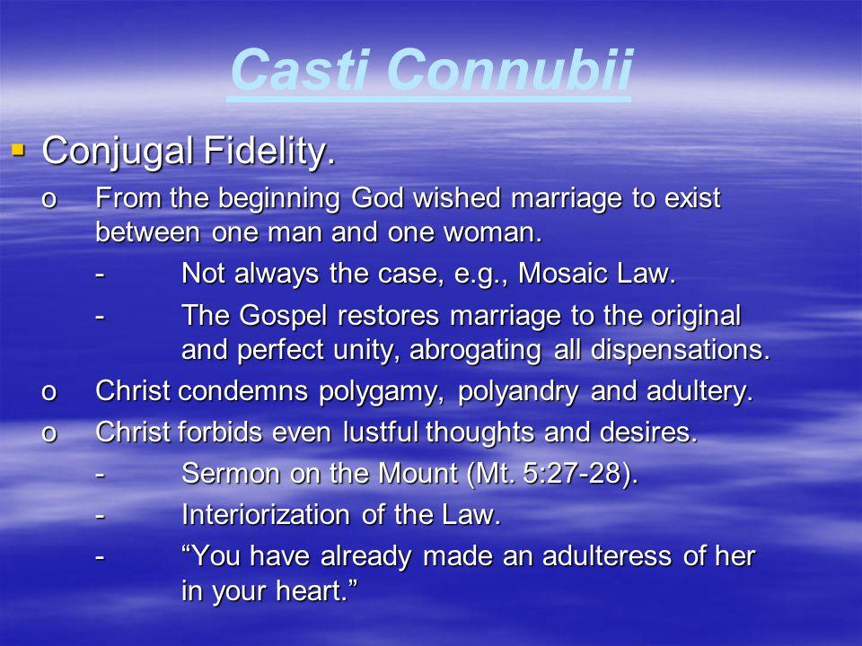 Casti Connubii  Emancipation of Woman.oA false emancipation.