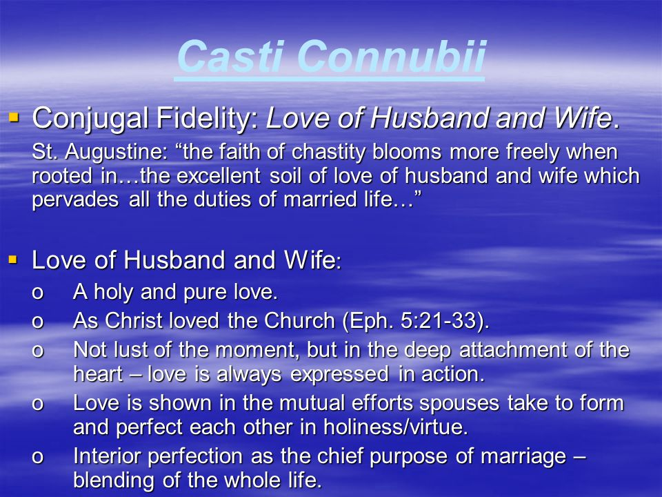 Casti Connubii  Evils of Divorce.