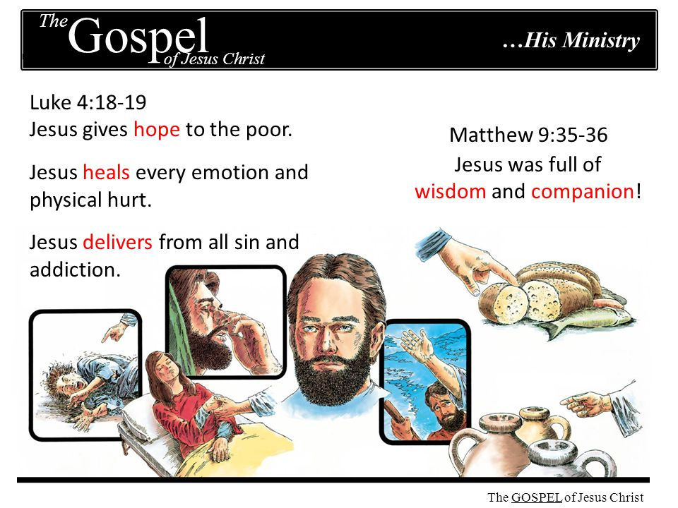 The GOSPEL The of Jesus Christ Gospel The GOSPEL of Jesus Christ …His Purpose Matthew 1:21 Everything Jesus did was to save sinners.