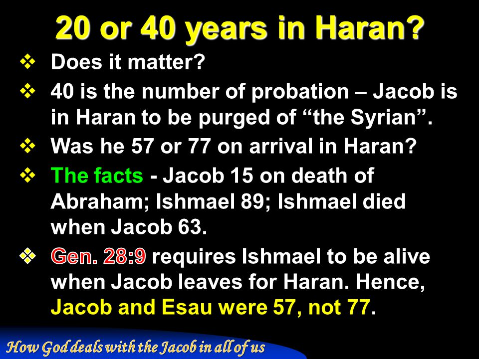 20 or 40 years in Haran
