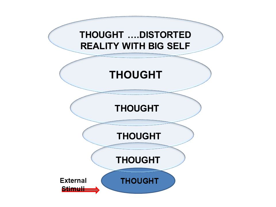 THOUGHT THOUGHT ….DISTORTED REALITY WITH BIG SELF External Stimuli