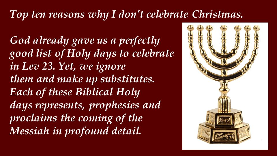 Then, the holiday underwent a conversion.