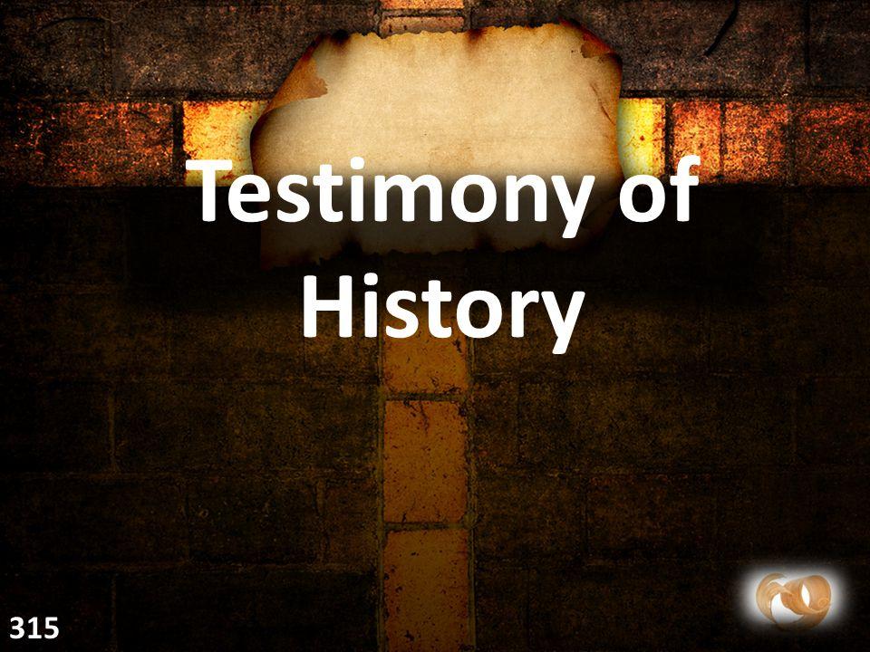 Testimony of History 315