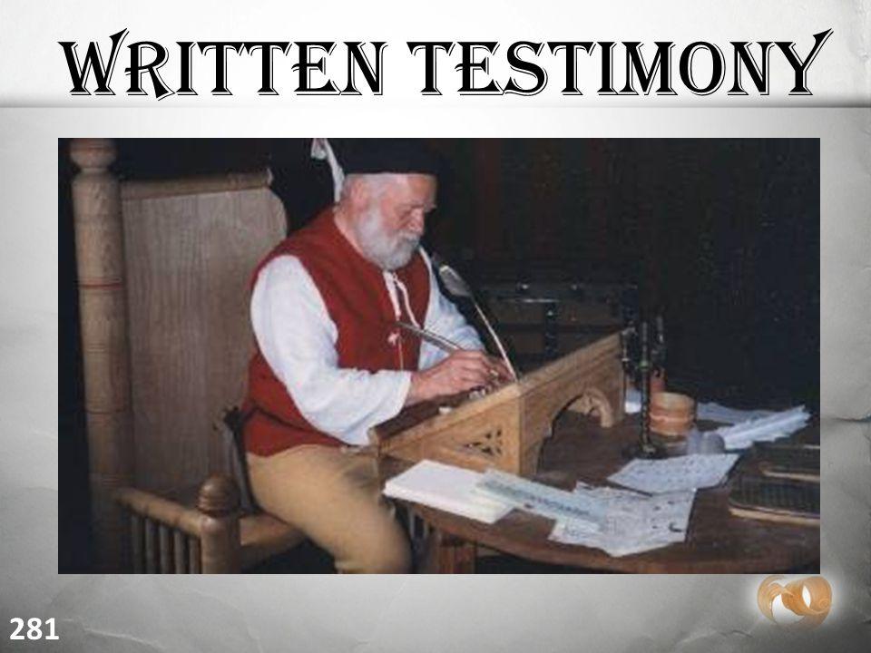 Written Testimony 281