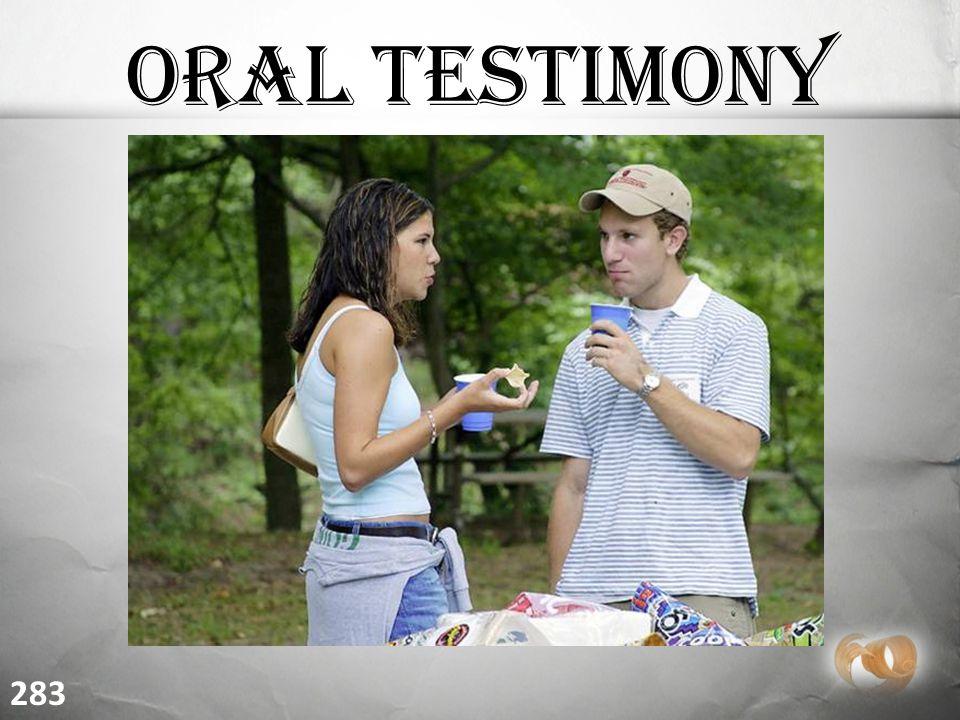 Oral Testimony 283